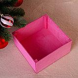 """Коробка подарочная """"C Новым Годом"""", розовая, 20×20×10 см, фото 3"""