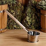 """Ковш из нержавеющей стали, 0,7л, с деревянной ручкой, """"Добропаровъ"""", фото 5"""
