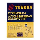 Стремянка TUNDRA, алюминиевая, двухсторонняя, 2 ступени, 430 мм, фото 4