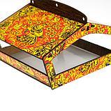 "Кормушка стандарт ""Хохлома листва"", цветная, 20×15×12 см, фото 4"