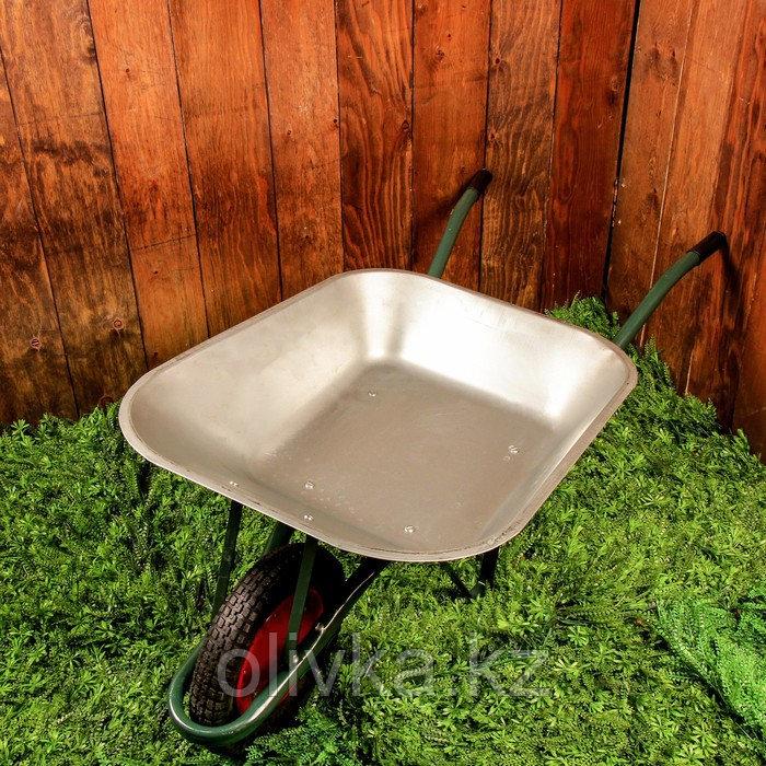 Тачка садово-строительная, одноколёсная: объём 65 л, груз/п 150 кг, пневмоколесо 3.00-8, кузов 0,6 мм, разборная рама