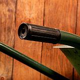 Тачка садово-строительная, одноколёсная: объём 65 л, груз/п 150 кг, пневмоколесо 3.00-8, кузов 0,6 мм, разборная рама, фото 4