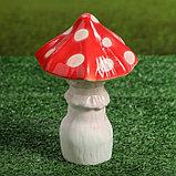 """Садовая фигура """"Мухомор малютка"""", красный цвет, 18 см, фото 2"""