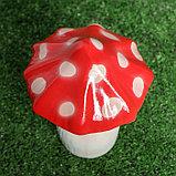 """Садовая фигура """"Мухомор малютка"""", красный цвет, 18 см, фото 3"""