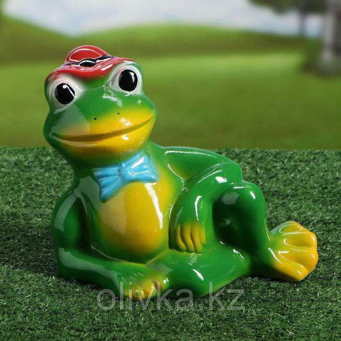 """Садовая фигура """"Лягушка в шляпе"""", разноцветный, 22 см, микс"""