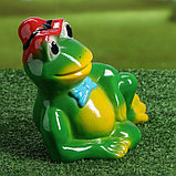 """Садовая фигура """"Лягушка в шляпе"""", разноцветный, 22 см, микс, фото 2"""
