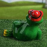"""Садовая фигура """"Лягушка в шляпе"""", разноцветный, 22 см, микс, фото 3"""