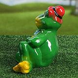 """Садовая фигура """"Лягушка в шляпе"""", разноцветный, 22 см, микс, фото 4"""
