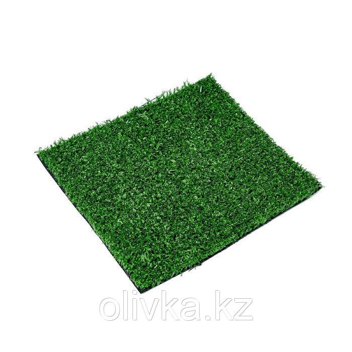Газон искусственный, ландшафтный, ворс 15 мм, 2 × 5 м, зелёный