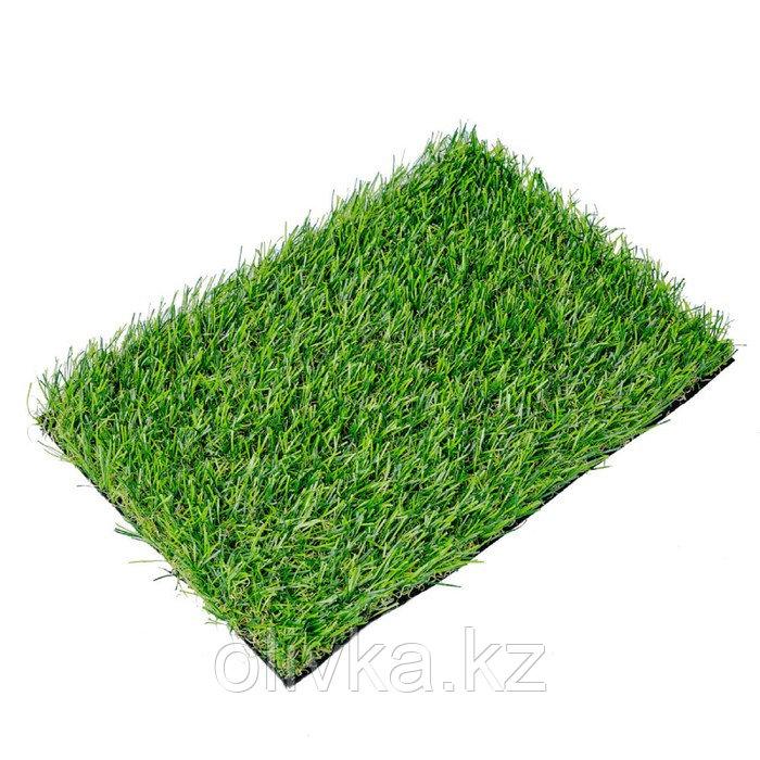 Газон искусственный, ландшафтный, ворс 30 мм, 4 × 5 м, зелёный двухцветный