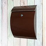 Ящик почтовый с замком, вертикальный, «Сфера», коричневый, фото 2