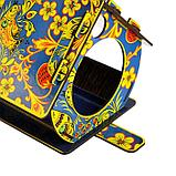 "Кормушка декорированная ""Хохлома синяя"", цветная, 28×19×17 см, фото 3"