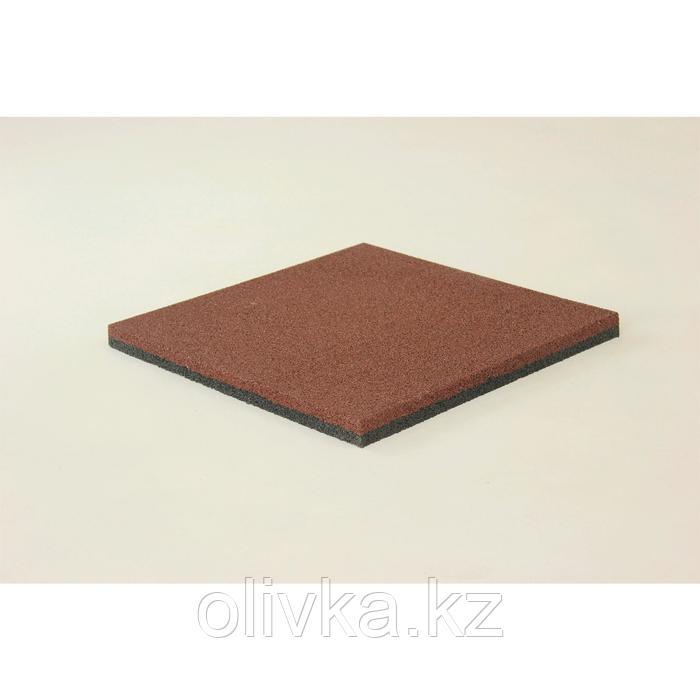 Плитка резиновая 50х50х3 см полнот коричневый
