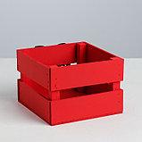 Деревянный ящик реечный «Шар», 13 × 13 × 9 см, с декором, фото 4