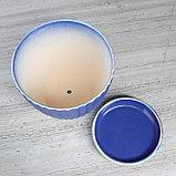 """Горшок для цветов """"Калифорния"""", синий жемчуг, 3.5 л, фото 3"""