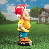"""Садовая фигура """"Гном с фонарем"""", глянец, жёлтый цвет, 51 см, микс, фото 2"""
