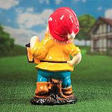 """Садовая фигура """"Гном с фонарем"""", глянец, жёлтый цвет, 51 см, микс, фото 3"""