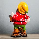 """Садовая фигура """"Гном с фонарем"""", глянец, жёлтый цвет, 51 см, микс, фото 5"""