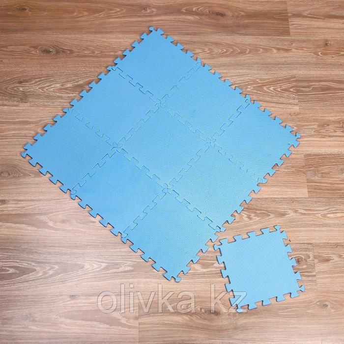 Коврик-пазл «Моноцвет-голубой», 10 шт. в наборе