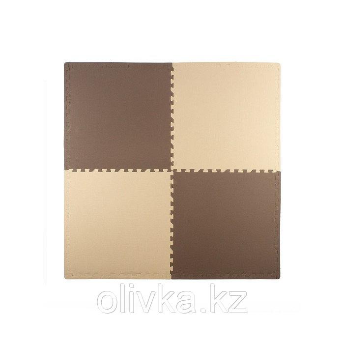 Мягкий пол универсальный 60 × 60, цвет бежево-коричневый