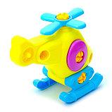 Конструктор для малышей «Вертолётик», 16 деталей, цвета МИКС, фото 3