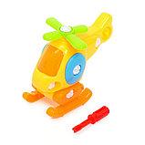 Конструктор для малышей «Вертолётик», 16 деталей, цвета МИКС, фото 6