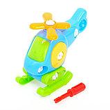 Конструктор для малышей «Вертолётик», 16 деталей, цвета МИКС, фото 8
