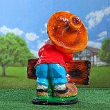 """Садовая фигура """"Гном лесовичок"""", глянец, разноцветная, 43 см, микс, фото 3"""