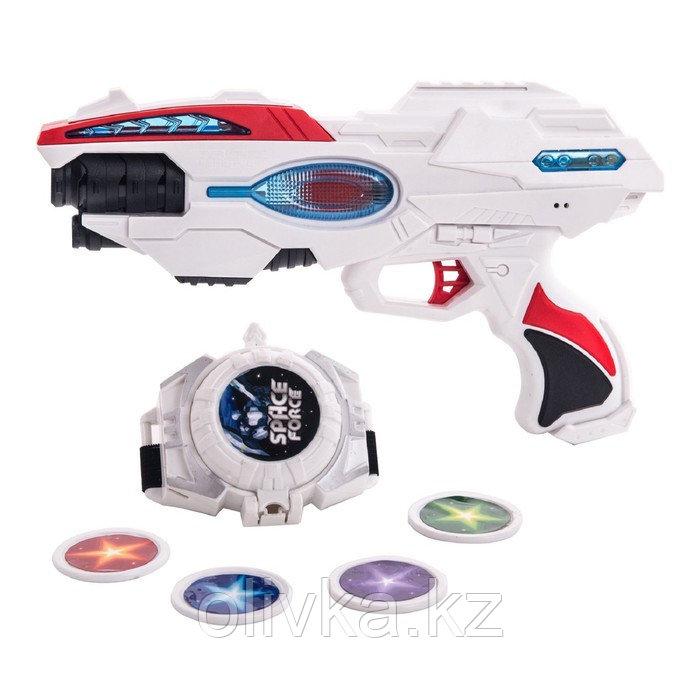 Игровой набор Fun Red, бластер, часы, звуковые и световые эффекты
