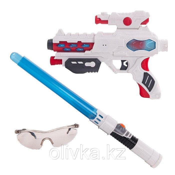 Игровой набор Fun Red, бластер, очки, меч, звуковые и световые эффекты