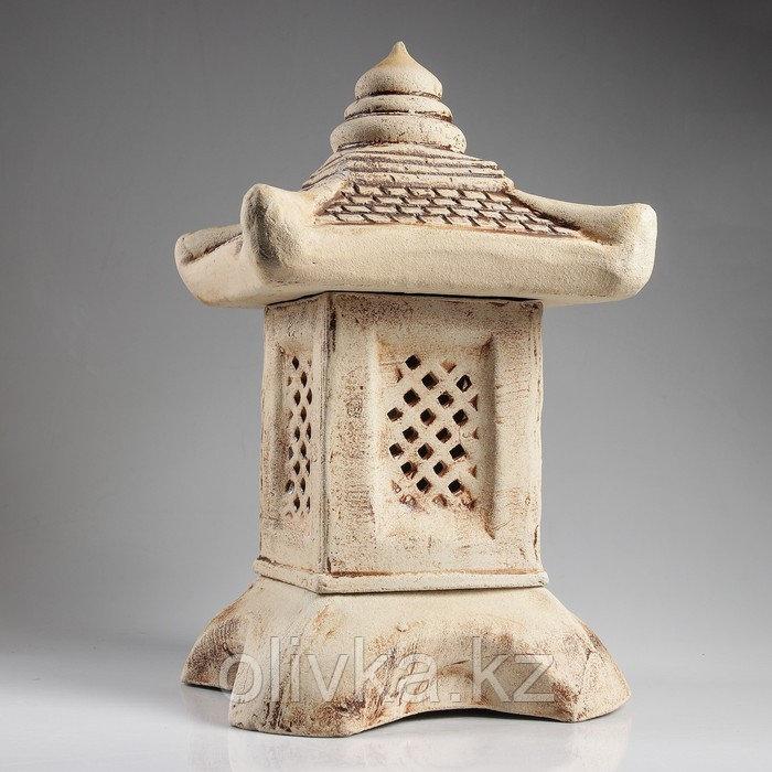 Садовый светильник ''Китайский домик'', шамот, 42 см