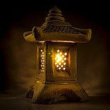Садовый светильник ''Китайский домик'', шамот, 42 см, фото 2
