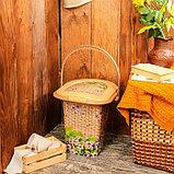 Ведро-туалет, 17 л, «Плетёнка», фото 4