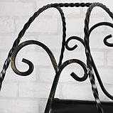 Дровница кованная с поддоном, черная, 70х40х65см, фото 4