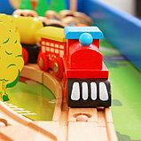 Железная дорога, 108 элементов, стол в комплекте, фото 6
