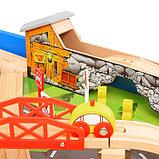 Железная дорога, 108 элементов, стол в комплекте, фото 9
