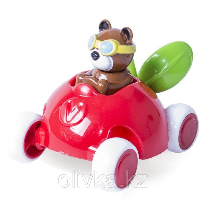 Игрушка «Машинка-брусничка», с мишкой, 14 см