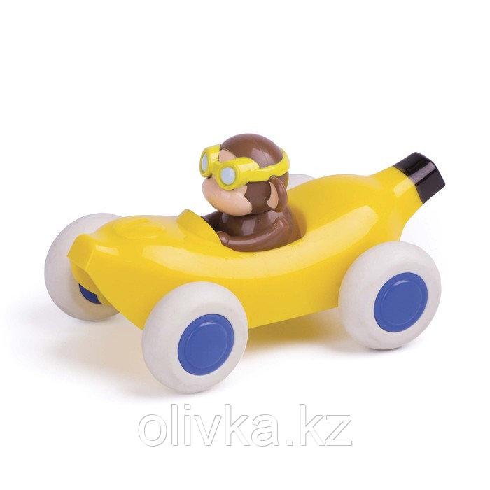 Игрушка «Машинка-банан», с мартышкой, 14 см