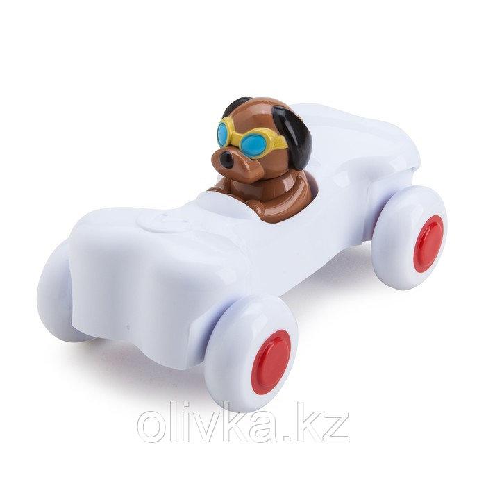 Игрушка «Машинка-косточка», с собачкой, 14 см