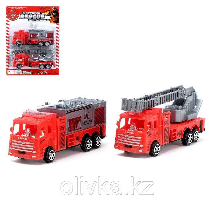 Машина инерционная «Пожарная охрана» (набор 2 шт), МИКС