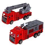 Машина инерционная «Пожарная охрана» (набор 2 шт), МИКС, фото 2
