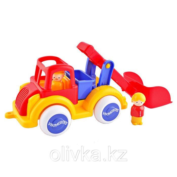 Игрушка «Строительная машинка», с ковшом, с 2 фигурками