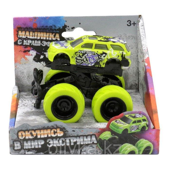 Машинка с краш-эффектом Funky Toys 4х4,пул бэк, цвет зелёный