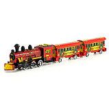 Паровоз инерционный «Поезд в Новый Год», цвета МИКС, фото 5