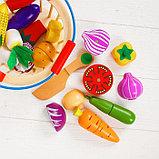"""Игровой набор """"Овощи в корзине"""", 14 овощей: 5,5 × 5 см, фото 3"""