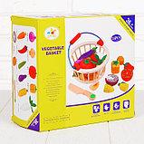 """Игровой набор """"Овощи в корзине"""", 14 овощей: 5,5 × 5 см, фото 4"""
