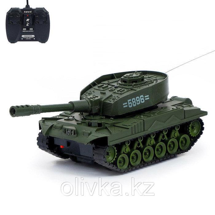 Танк радиоуправляемый «Т-64», работает от аккумулятора, световые и звуковые эффекты, цвета МИКС