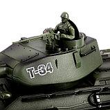 Танк радиоуправляемый «Т-34», с аккумулятором, с бункером, фото 2