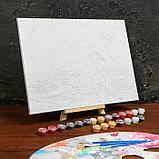 Картина по номерам на холсте с подрамником «Лебедь на озере» 30×40 см, фото 3
