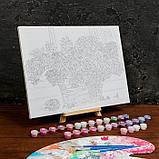 Картина по номерам на холсте с подрамником «Букет сирени» 30×40 см, фото 3